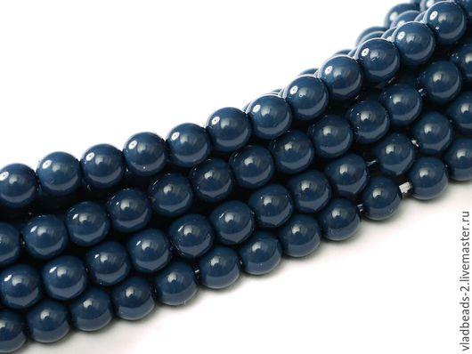 Для украшений ручной работы. Ярмарка Мастеров - ручная работа. Купить Бусины 4мм чешские стеклянные Baltic Blue. Handmade.