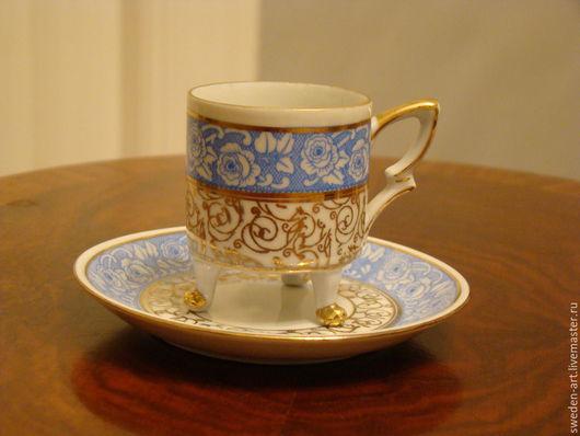 Винтажная посуда. Ярмарка Мастеров - ручная работа. Купить Кофейная пара с блюдцем  Bavaria. Handmade. Фарфор, винтажная, европейский стиль