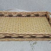 Для дома и интерьера handmade. Livemaster - original item Rectangular wicker tray. Handmade.