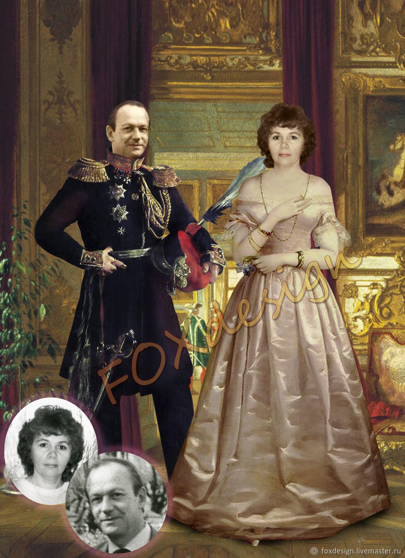 Исторический портрет по вашим фото, Фотокартины, Санкт-Петербург, Фото №1