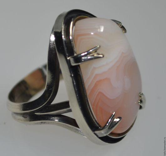 """Кольца ручной работы. Ярмарка Мастеров - ручная работа. Купить """"кольцо с розовым агатом - """"нежный хищник"""". Handmade. Розовый"""