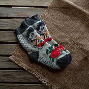 Аксессуары handmade. Livemaster - original item Positive fun socks with patterned hedgehog. Handmade.
