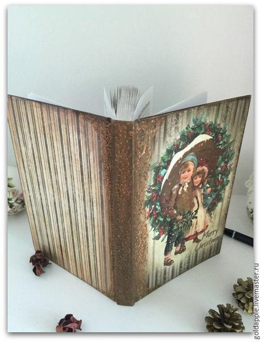 """Блокноты ручной работы. Ярмарка Мастеров - ручная работа. Купить Блокнот """"Новогодняя сказка"""". Handmade. Коричневый, подарок на любой случай"""
