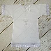 """Работы для детей, ручной работы. Ярмарка Мастеров - ручная работа Рубашка для крещения """"Спаси и Сохрани"""". Handmade."""