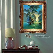 """Картины ручной работы. Ярмарка Мастеров - ручная работа Морской пейзаж """"Он и она"""". Handmade."""