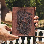 Канцелярские товары handmade. Livemaster - original item Cover / organizer made of leather with pyrography