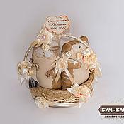 Куклы и игрушки ручной работы. Ярмарка Мастеров - ручная работа Корзина Коты Неразлучники. Handmade.