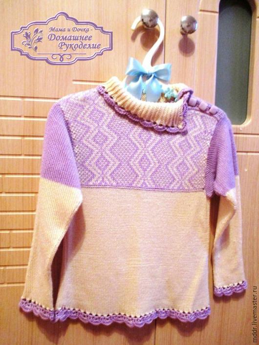Одежда для девочек, ручной работы. Ярмарка Мастеров - ручная работа. Купить Скандинавская Сказка кофточка детская  (бамбуковая пряжа). Handmade.