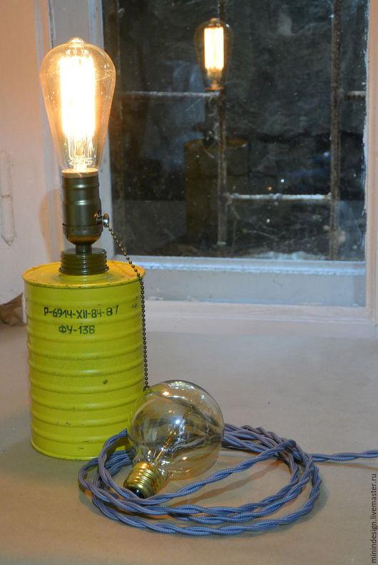 Освещение ручной работы. Ярмарка Мастеров - ручная работа. Купить ФУ-136. Handmade. Желтый, необычный светильник, ретропатрон