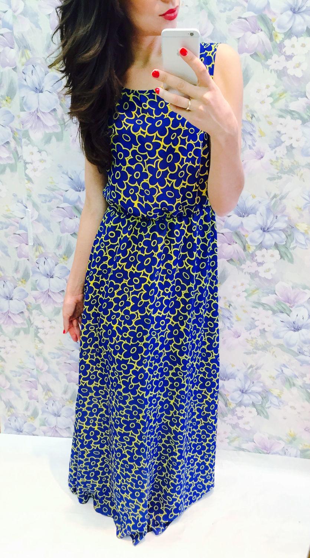 Платья ручной работы. Ярмарка Мастеров - ручная работа. Купить Платье-сарафан в пол шифон. Handmade.