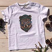Работы для детей, ручной работы. Ярмарка Мастеров - ручная работа Футболка детская Bear. Handmade.