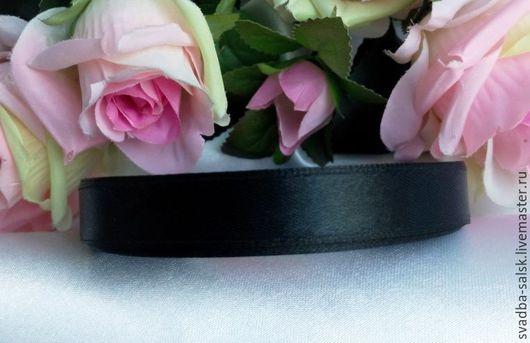 Шитье ручной работы. Ярмарка Мастеров - ручная работа. Купить Черная Лента атласная (10 мм). Handmade. Атласная лента