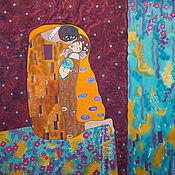Аксессуары handmade. Livemaster - original item Shawl batik Kiss Klimt. Handmade.