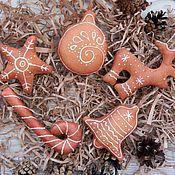 Подарки к праздникам ручной работы. Ярмарка Мастеров - ручная работа Набор небьющихся елочных игрушек. Handmade.