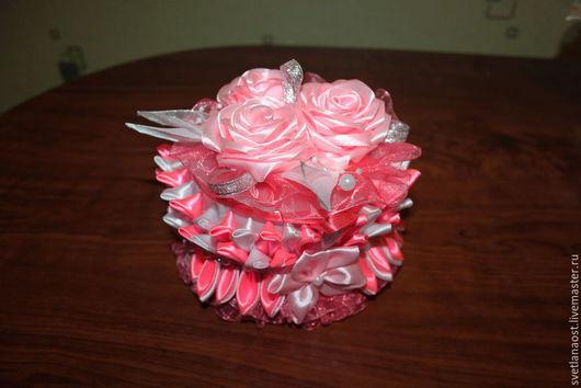 Персональные подарки ручной работы. Ярмарка Мастеров - ручная работа. Купить Шкатулка Моя мечта. Handmade. Розовый, атласные ленты