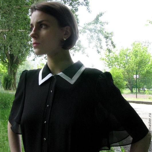 Платья ручной работы. Ярмарка Мастеров - ручная работа. Купить Платье Черное коктельное в минималистическом стиле. Handmade. Чёрно-белый