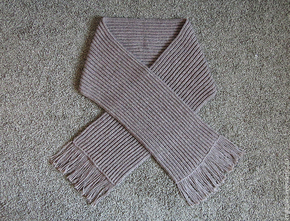 A wide scarf knitted from sheep wool, brown, Scarves, Nalchik,  Фото №1