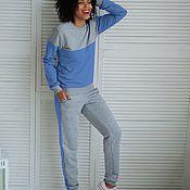 Одежда ручной работы. Ярмарка Мастеров - ручная работа Комплект Серо-голубой. Handmade.