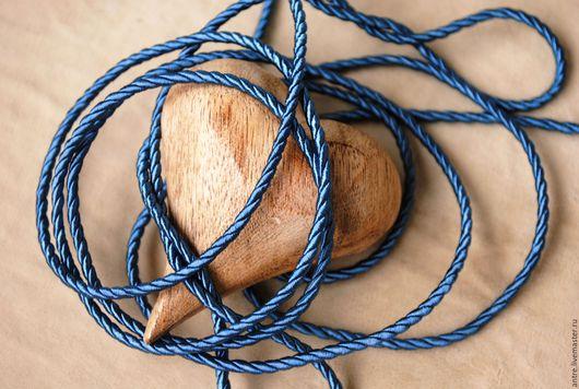 """Шитье ручной работы. Ярмарка Мастеров - ручная работа. Купить Шнур крученый  """"Индиго"""" коллекция  """"Помпадур""""Греция. Handmade. Синий, морская"""