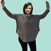Одежда handmade. Livemaster - original item Grey loose sweater. Handmade.