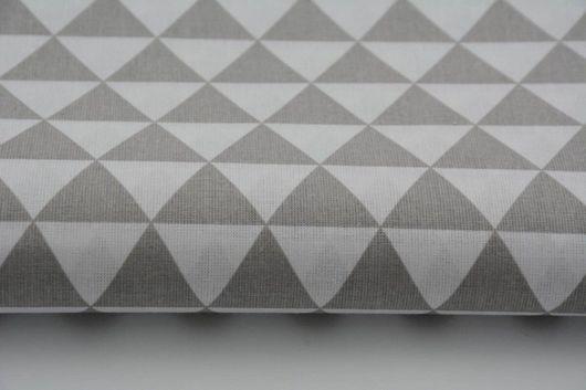 Шитье ручной работы. Ярмарка Мастеров - ручная работа. Купить Ткань хлопок 100% треугольник серый. Handmade. Серый