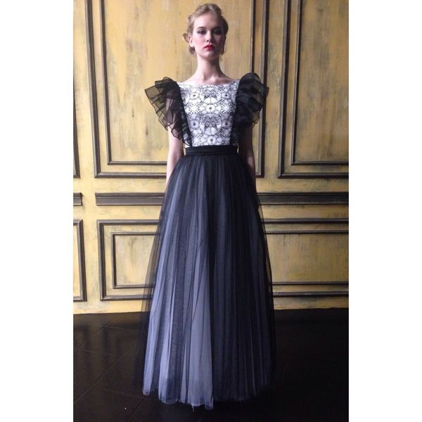 Платье в пол из органзы
