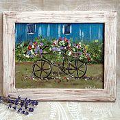 """Картины и панно ручной работы. Ярмарка Мастеров - ручная работа Картина """"Велосипед"""". Handmade."""