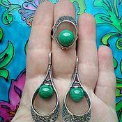 Украшения handmade. Livemaster - original item 304 Set silver with stones. Handmade.