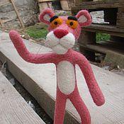 Куклы и игрушки ручной работы. Ярмарка Мастеров - ручная работа валяная Розовая пантера. Handmade.