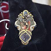 Украшения handmade. Livemaster - original item A brutal brooch with a dragon, embroidered in the soutache technique. Handmade.
