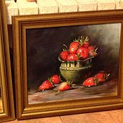 Картины и панно ручной работы. Ярмарка Мастеров - ручная работа Натюрморт с клубникой. Handmade.