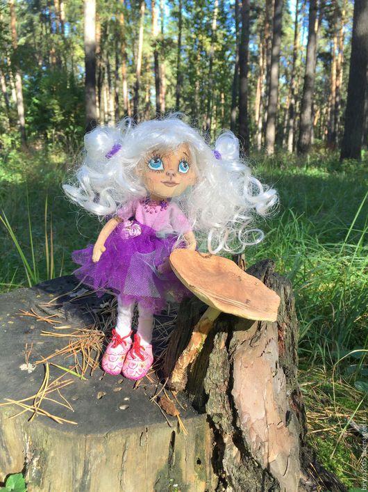Коллекционные куклы ручной работы. Ярмарка Мастеров - ручная работа. Купить Кнопа. Handmade. Фиолетовый, куклы и игрушки, фатин мягкий
