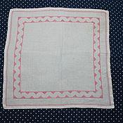 Винтаж handmade. Livemaster - original item Vintage napkin with embroidery. Handmade.