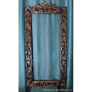Для дома и интерьера ручной работы. Ярмарка Мастеров - ручная работа Резная деревянная рама для зеркала. Handmade.