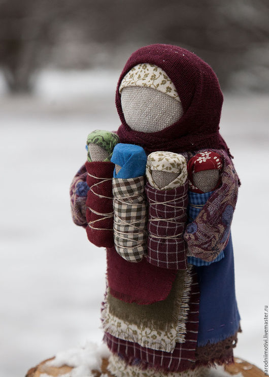 Народные куклы ручной работы, Купить кукла-оберег СемьЯ, обережные куклы, оберег для семьи, оберег для дома, русский стиль, Handmade, бордовый, синий, голубой, зеленый.