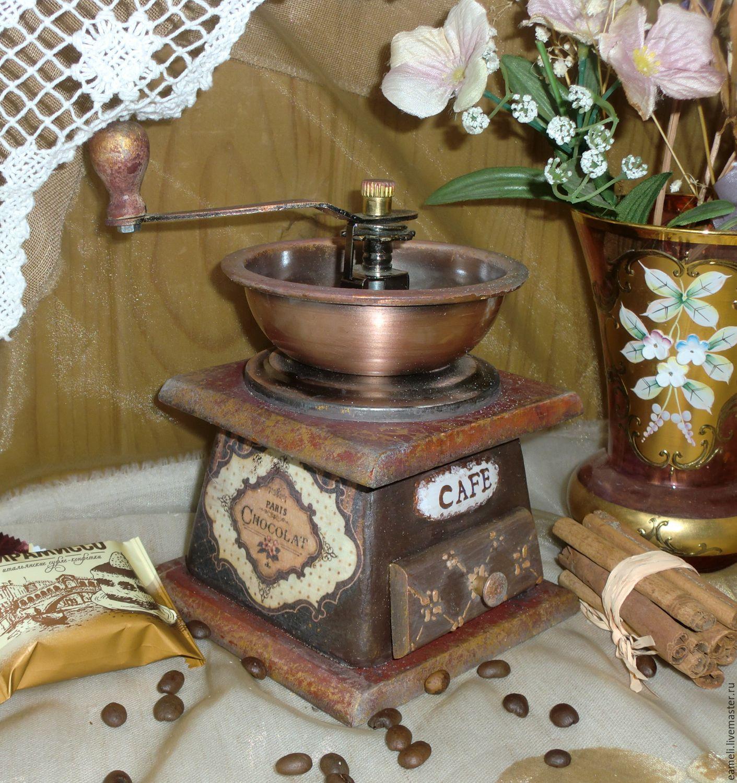 """Кухня ручной работы. Ярмарка Мастеров - ручная работа. Купить """"Шоколадное настроение"""" Кофемолка ручная. Handmade. Ретро, кофейный"""