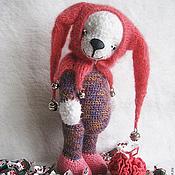 Куклы и игрушки ручной работы. Ярмарка Мастеров - ручная работа Мишка-арлекин Барбариска. Handmade.