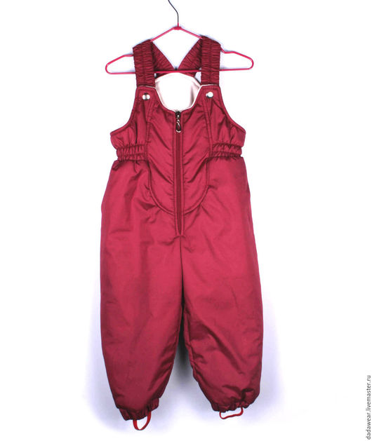 """Одежда унисекс ручной работы. Ярмарка Мастеров - ручная работа. Купить Полукомбинезон зимний """"Кроха"""". Handmade. Бордовый, детская одежда"""