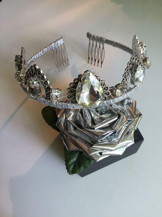 Свадебные украшения ручной работы. Ярмарка Мастеров - ручная работа. Купить Корона, диадема. Handmade. Корона, диадема, диадема для невесты