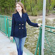Сине-голубой твидовый костюм – купить в интернет-магазине на Ярмарке ... 14c6822a437
