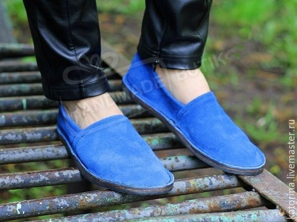 Espadrilles made of suede electric Blue unisex, Espadrilles, Moscow,  Фото №1