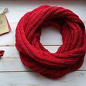 Аксессуары ручной работы. Ярмарка Мастеров - ручная работа вязаный шарф из хлопка. Handmade.
