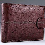 Сумки и аксессуары handmade. Livemaster - original item Ostrich leather wallet with ims0003k auto document compartment. Handmade.