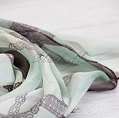 Аксессуары handmade. Livemaster - original item Gossamer chiffon style gradient block Chanel Lace green. Handmade.