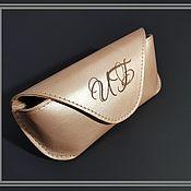 Сумки и аксессуары handmade. Livemaster - original item Eyeglass case leather. case for glasses. Eyeglass case bronze.. Handmade.