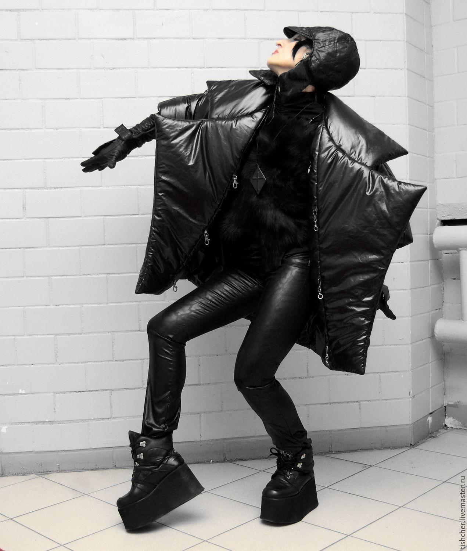 """Верхняя одежда ручной работы. Ярмарка Мастеров - ручная работа. Купить Пальто """"Летучая мышь"""". Handmade. Готика, спортивный стиль"""