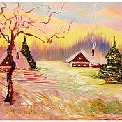 Картины и панно ручной работы. Ярмарка Мастеров - ручная работа Пряничные домики. Handmade.