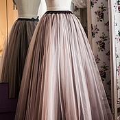 Одежда ручной работы. Ярмарка Мастеров - ручная работа Длинная юбка из фатина Кофе. Handmade.