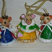 Мягкие игрушки ручной работы. Ярмарка Мастеров - ручная работа Игрушки: Ёлочные ватные игрушки. Handmade.