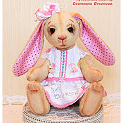 Куклы и игрушки ручной работы. Ярмарка Мастеров - ручная работа авторская игрушка ЗАЙКА  МОНА. Handmade.